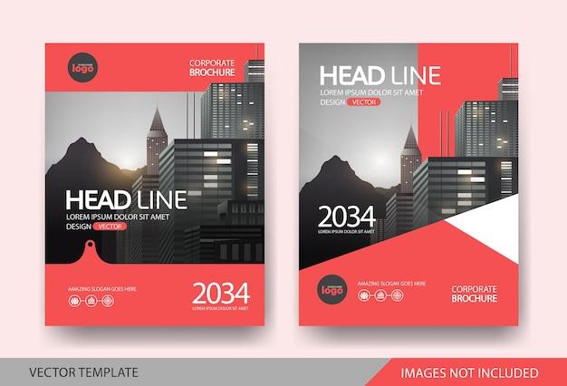 Modelo de layout de design de capa de livro corporativo