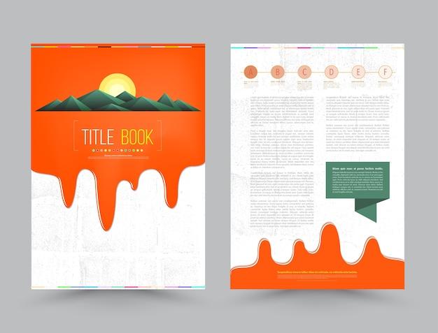 Modelo de layout de design de folheto comercial brochura em tamanho a4