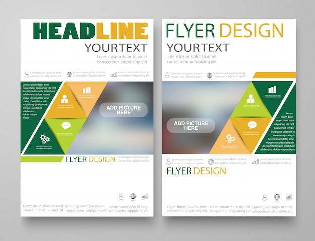 Modelo de layout de design de folheto de negócios