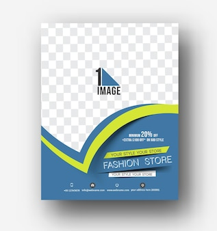 Modelo de layout de design de folheto, pôster e revista em vetor tamanho a4