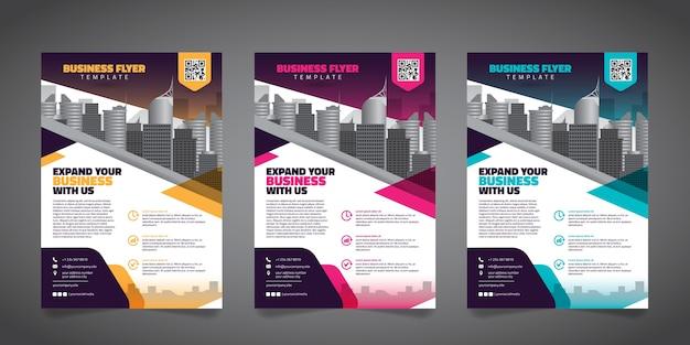 Modelo de layout de design de panfleto de negócios