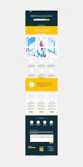 Modelo de layout de design do site