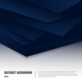 Modelo de layout de estilo de arte de papel abstrato