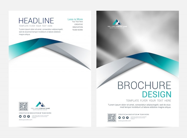 Modelo de layout de folheto, design da capa