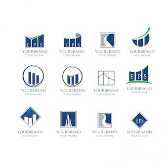 Modelo de layout de folheto empresarial moderno
