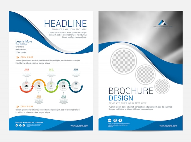 Modelo de layout de folheto, folheto flyer capa projeto fundo