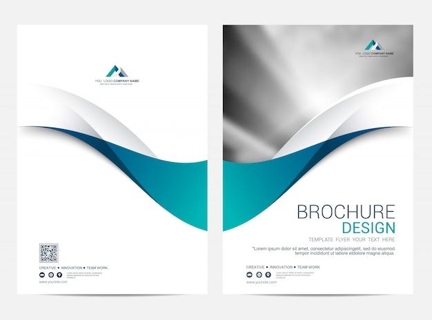 Modelo de layout de folheto ou panfleto, fundo de design de capa de relatório anual