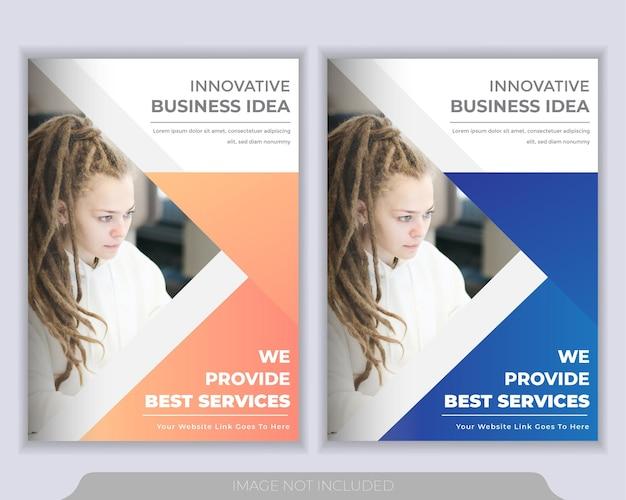 Modelo de layout de folheto ou panfleto. relatório anual, modelo de apresentação de capa de livro