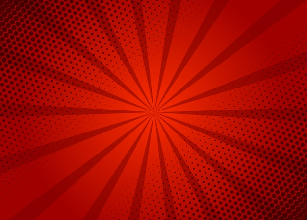 Modelo de layout de fundo vermelho retrô dos desenhos animados. quadrinhos típicos