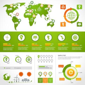 Modelo de layout de infografia de energia