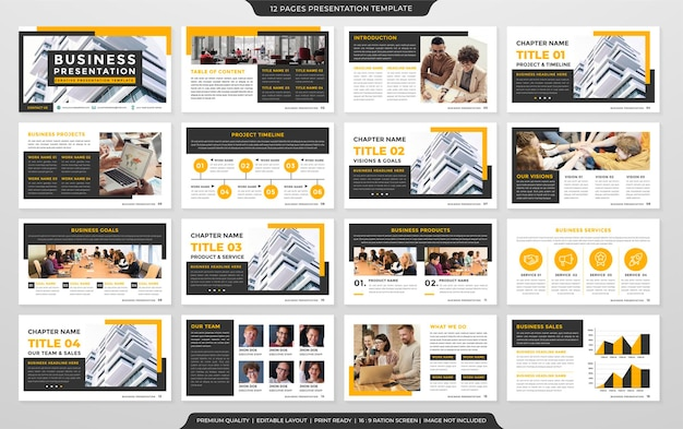 Modelo de layout de negócios design estilo premium