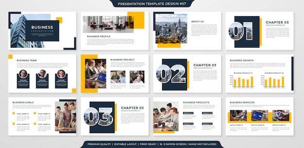 Modelo de layout de página de apresentação