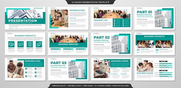 Modelo de layout de ppt de negócios
