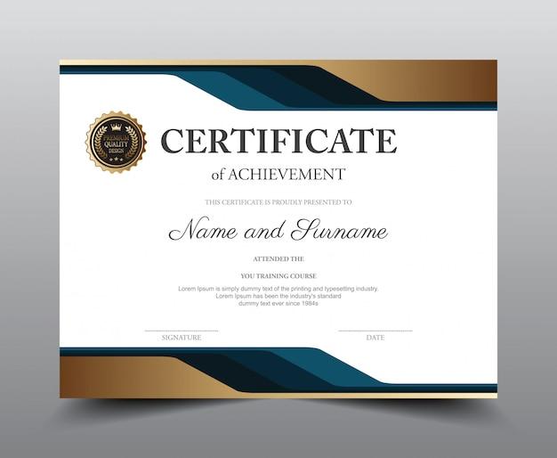 Modelo de layout do certificado.