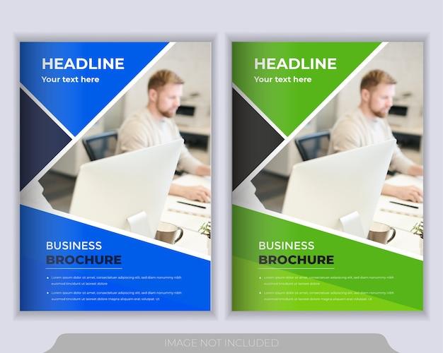 Modelo de layout do folheto. relatório anual, modelo de apresentação de capa de brochura