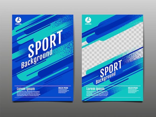 Modelo de layout, fundo do esporte, cartaz dinâmico, ilustração.