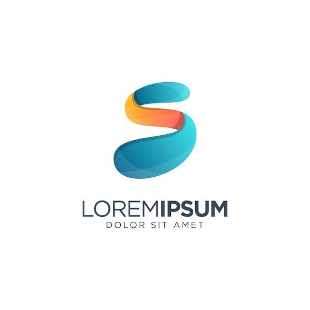 Modelo de letra s logotipo