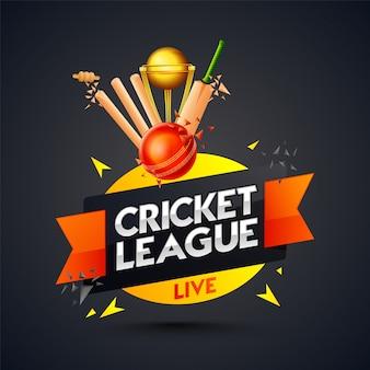 Modelo de liga de críquete ou design de cartaz