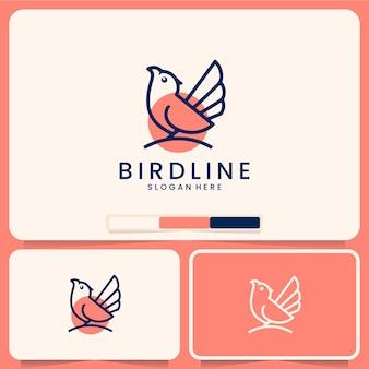 Modelo de linha de pássaro, conjunto de ícones, inspiração de design de logotipo