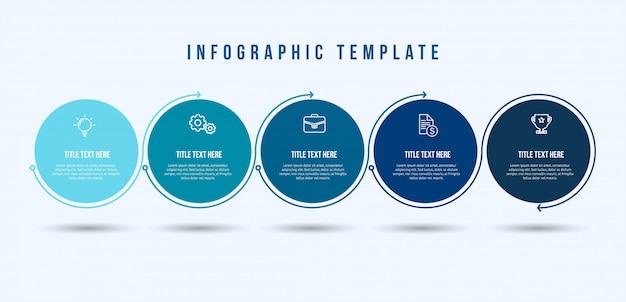 Modelo de linha fina de infográfico