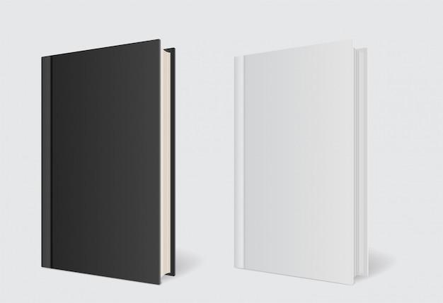 Modelo de livro de capa de maquete em cinza