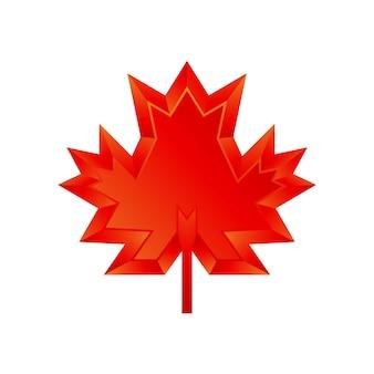 Modelo de logotipo 3d de outono