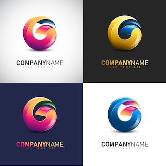 Modelo de logotipo abstrato 3d letra g para sua marca de empresa
