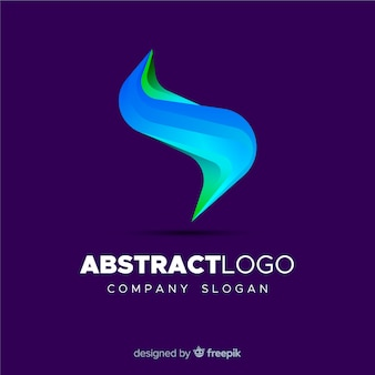 Modelo de logotipo abstrato colorido
