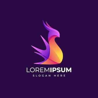 Modelo de logotipo abstrato com cores coloridas