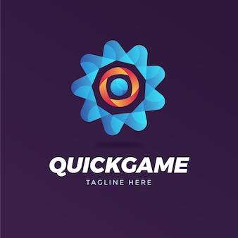 Modelo de logotipo abstrato com slogan
