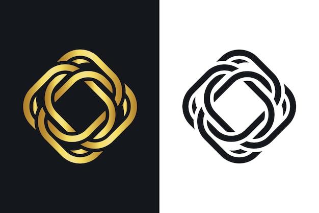 Modelo de logotipo abstrato criativo