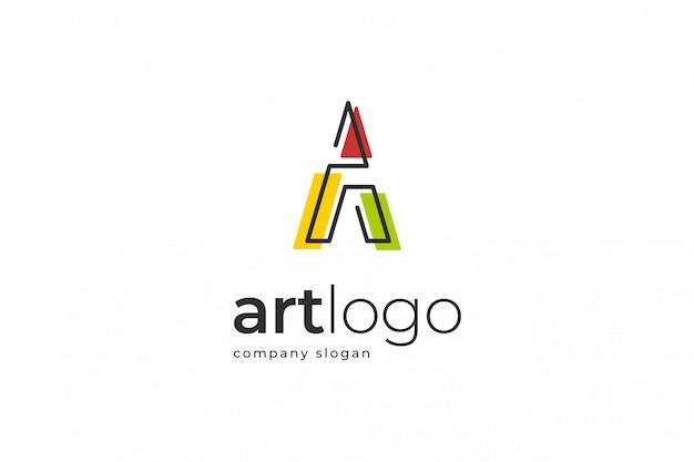Modelo de logotipo abstrato da letra a