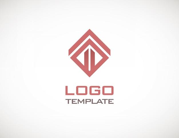 Modelo de logotipo abstrato de conceito de luxo de construção