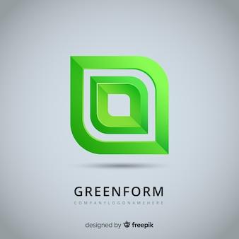 Modelo de logotipo abstrato em estilo gradiente