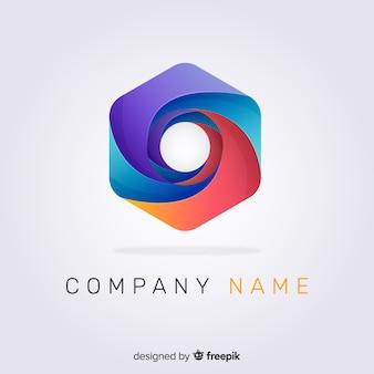 Modelo de logotipo abstrato gradiente