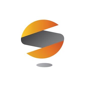 Modelo de logotipo abstrato letra s