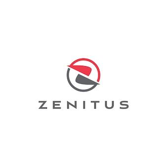 Modelo de logotipo abstrato letra z