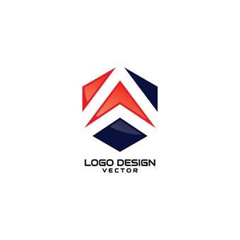 Modelo de logotipo abstrato moderno a empresa símbolo