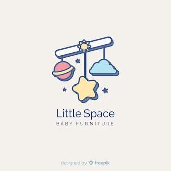 Modelo de logotipo adorável loja de bebê com estilo moderno