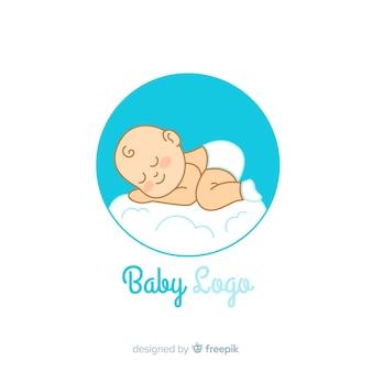 Modelo de logotipo adorável loja de bebê