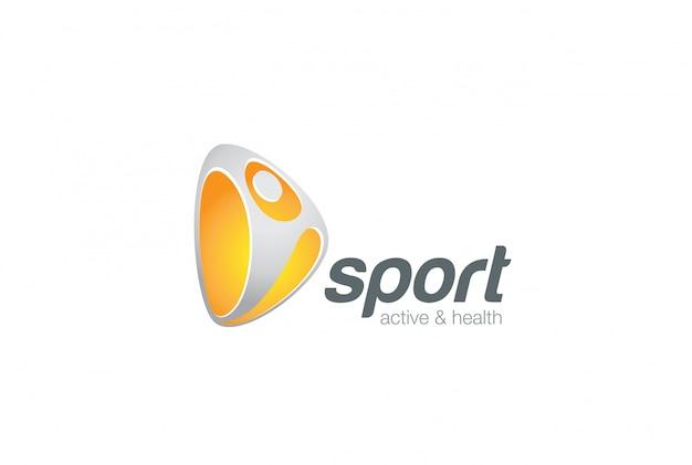 Modelo de logotipo ativo de esporte