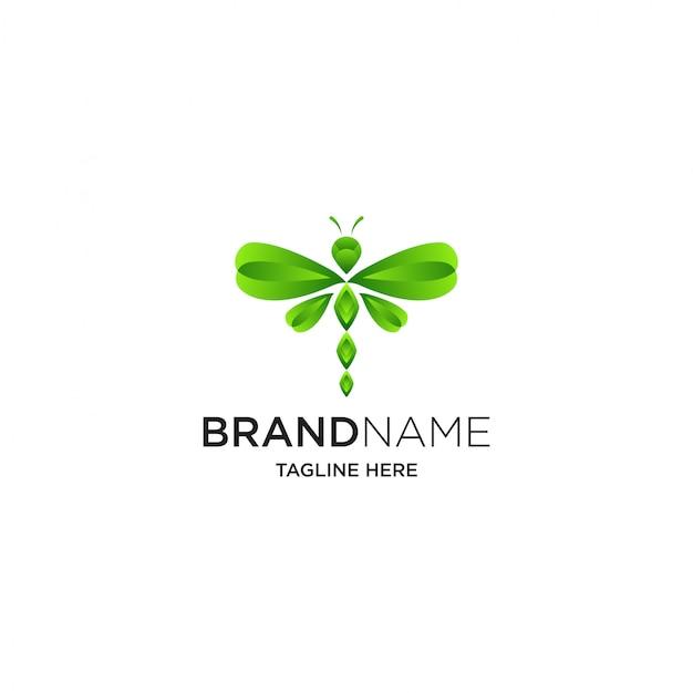 Modelo de logotipo borboleta colorida