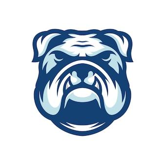 Modelo de logotipo bulldog