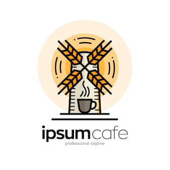 Modelo de logotipo café café