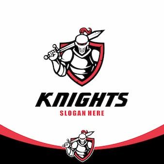 Modelo de logotipo cavaleiro