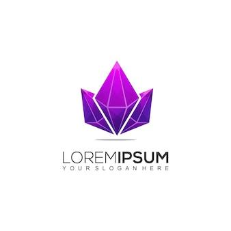 Modelo de logotipo colorido de diamantes