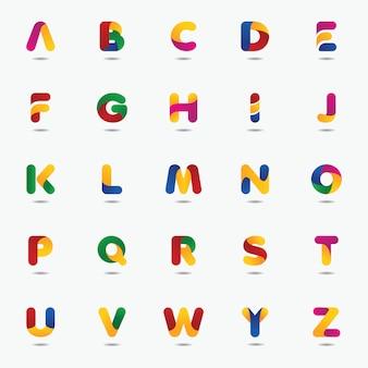 Modelo de logotipo colorido letra