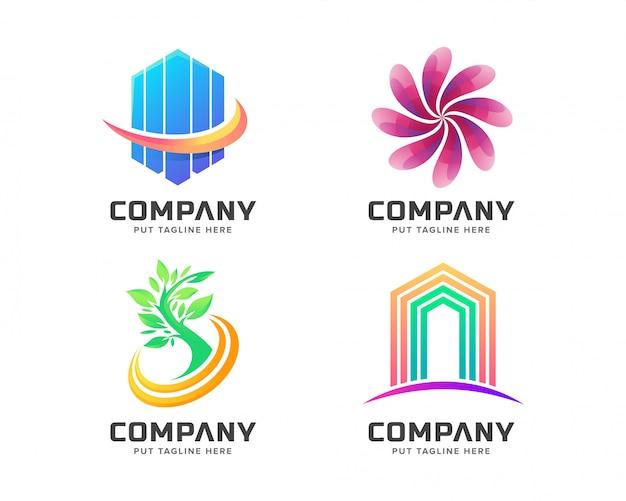 Modelo de logotipo colorido moderno