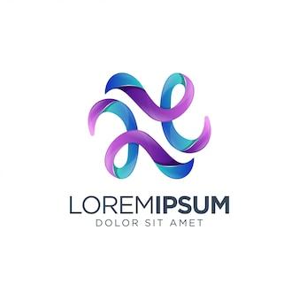 Modelo de logotipo colorido
