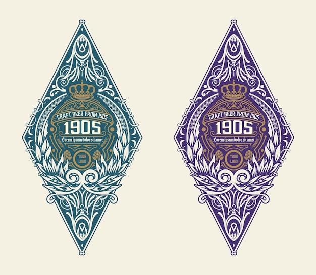 Modelo de logotipo com design detalhado